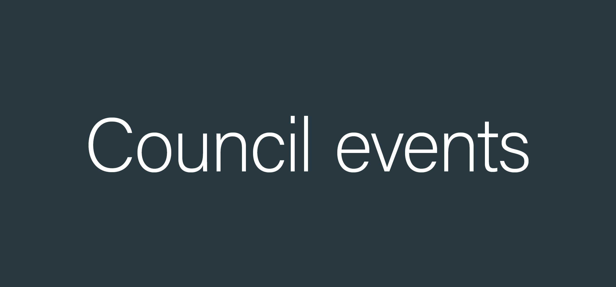 Council events