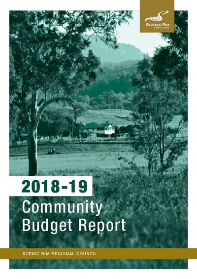 2018-19 Community budget report cover