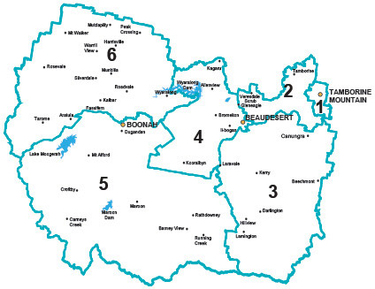 Map of Council divisions